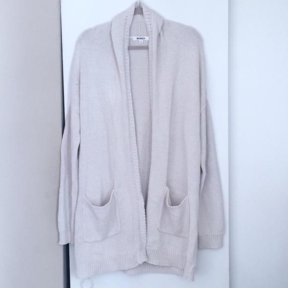 BB Dakota Sweaters - BB Dakota Cream Long Cardigan Sweater